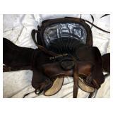 Medium Size Leather Western Saddle
