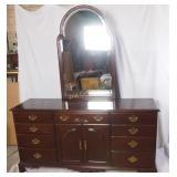 Harden Dark Cherry Colonial Dresser W Mirror