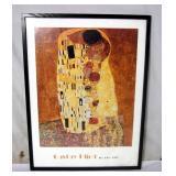 Gustav Klimt The Kiss 1900 Frame Art Print