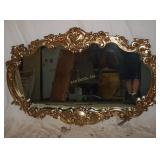 "60""  Wide Horizontal Ornate Gold Gregorian Mirror"