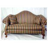 Premium Ethan Allen Striped Love Seat Sofa