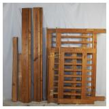 Vintage Mission Style Stacking Wood Bed