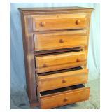 Florida Furniture 5 Drawer Tall Dresser Chest