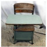 Vintage Wood & Metal Irwin Child School Desk