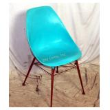 Vintage Turquoise Mid Century Side Chair