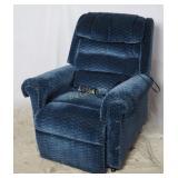 Golden Lift Chair Recliner Blue Easy Chair