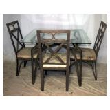 Modern Wrought Iron Frame Dining Room Set