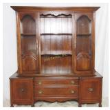Vintage Duncan Phyffe Wood Buffet W Hutch Top