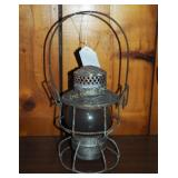 Vintage P R R Railroad Signal Kerosene Lantern