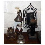 "Mid Century Wood Rustic 8"" Pillar Taper Candle Sti"