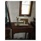 Vintage Singer Touch & Sew Sewing Machine Cabinet
