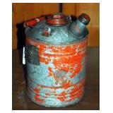 Vintage One Gallon Liquid Fuel Gas Can