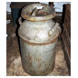 Vintage Solar Steel 10 Gal Milk Can W Lid