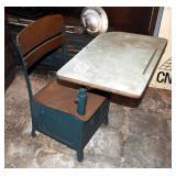 Vintage Elementary School Student Child Desk