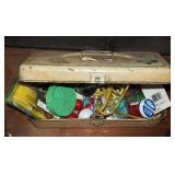 Vintage Small Metal Bait Fishing Tackle Box