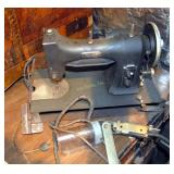 Vintage White Heavy Duty Commercial Sewing Machine