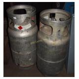 """2 Worthington Cylinders"""" Propane Gas Cylinders"""