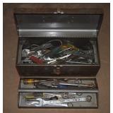 "17"" Mechanics Tool Box W Drawer & Tools"