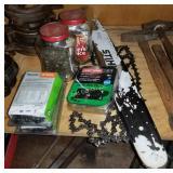 "9 Assorted Stihl Chain Saw 18"" Oilmatic Chains & B"