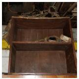 "28"" X 28"" Primitive 2 Shelf Wood Bookcase"