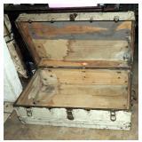 Antique Henry Likly N Y Steamer Trunk 1800