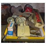 Miscellaneous Grinder & Shop Bench Tools Box Lot