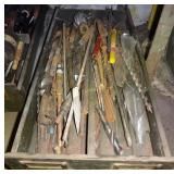 Large Assorted Wood & Metal Drill Bits Lot