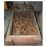 "44""x 22"" Primitive Wood Crate W Chains & Binders"