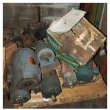 Used Heavy Motors Pumps & Metal Parts Pallet