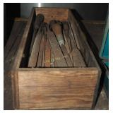 Vintage Crated Filled With Old Assorted Files Lot