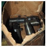 Box Filled W Steel Machine Bits & Parts Lot