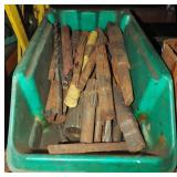 """24"""" Bin Filled W Steel Machine Bits & Parts Lot"""
