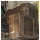 2 Large Heavy Wood Primitive Machine Parts Crates
