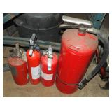 4 Assorted Size Expired Fire Extinguisher Lot