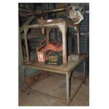"48"" Rigid Steel Rolling Work Table Cart"
