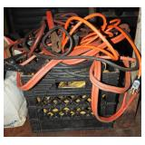 Jumper Cables Wiring Milk Crate Box Lot