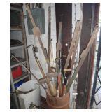 Huge Yard & Garden Barrel Tools Lot