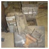 7 Antique Small Hot Pour Parts Machine Molds Lot
