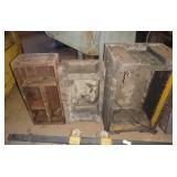3 Antique Small Hot Pour Parts Machine Molds Lot
