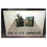 Vintage Wardwell C N C Machine Advertising Sign