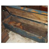 """Primitive 42"""" Long Wood Tool Chest On Casters"""