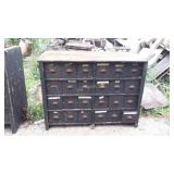 """54"""" Heavy Duty Wood Tall 24 Drawer Parts Cabinet"""