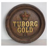 "Vintage Tuborg Gold 18"" Wall Advertisement"