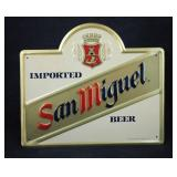 New San Miquel Tin Advertising Lithograph Sign