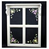 "Vintage 18"" X 15"" Painted Window With Shelf"