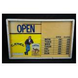 Vintage 1991 Joe Camel Store Open Closed Sign