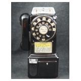Vintage Tall Replica Pay Phone Ceramic Coin Bank