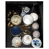 Vintage Fine China Lidded Bowls Creamers Box Lot