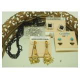 Vintage New Costume Jewelry Earrings & Necklaces