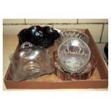 Iridescent & Clear Glass Collectible Dish Lot